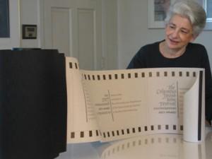 Ann Woods with an award